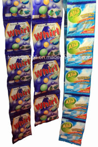 African Small Sachet Detergent Powder 15g/25g/35g/80g/110g Supplier