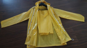 Fashion Design Waterproof Hooded PVC Poncho Raincoat pictures & photos