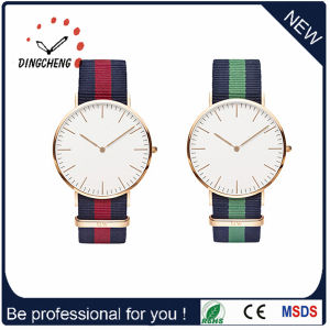 Custom Logo Fabric Nalon Strap Stainless Steel Wrist Watch (DC-1005) pictures & photos