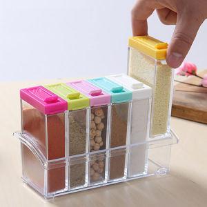 6PCS Condiment Set Box, Plastic Seasoning Box, Spices Storage Box pictures & photos
