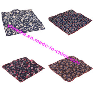 Hot Selling Europe Style Cotton Jacquard Mens Pocket Square pictures & photos