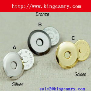 18mm Magnetic Snap, Magnetic Fastener for Bags, Magnetic Button pictures & photos