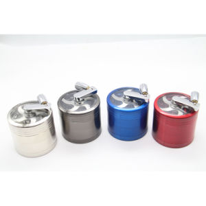 Tobacco Spice Grinder Aluminum Metal Herb with Mill Handle pictures & photos