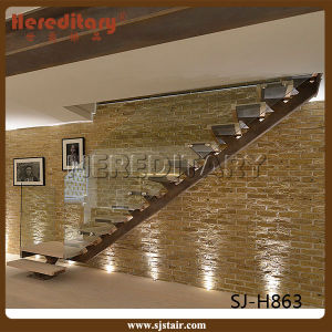 china simple design steel staircase with glass railing. Black Bedroom Furniture Sets. Home Design Ideas