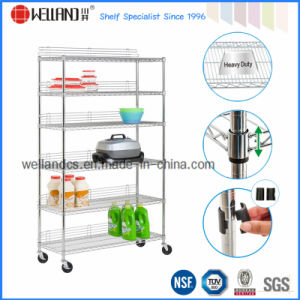 NSF Free Standing Stainless Steel Storage Rack (CJ12045180A6C) pictures & photos
