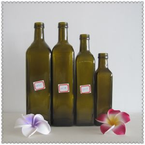 250ml Dark Green Glass Olive Oil Bottle pictures & photos