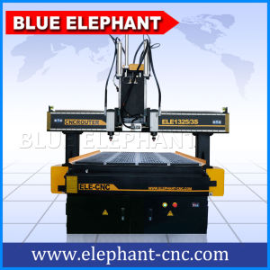 Machines Manufacturing Companies in China, Combination Woodworking Machine, Multi-Head Wood CNC Router 1325 pictures & photos