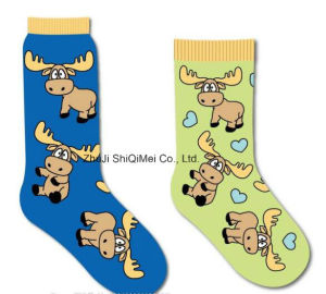 OEM Services Custom High Quality Colorful Combed Cotton Happy Funny Socks