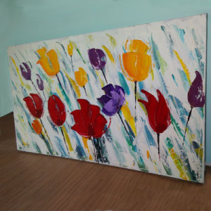 Hot Sale Classic Flowers Handpainted Canvas Painting Art for Wall Decoration (LH-246000) pictures & photos