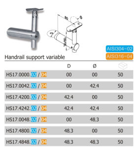 Different Size Stainless Steel Stair Handrail Fitting (HS17.02/04) pictures & photos