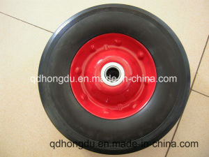 Factory Directly Sale 10 Inch Solid Rubber Wheel with High Quality pictures & photos