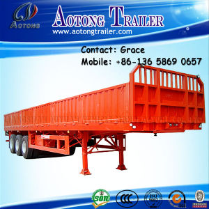 Side Wall Open Bulk Fence Cargo Transport Semi Trailer, Sidewall Semi Trailer, Dropside Semi Trailer pictures & photos