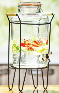 8L Big Glass Jar Storage Beverage Family Party pictures & photos