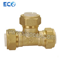 PP-R Brass Reduced Tee Female Pipe Fitting pictures & photos