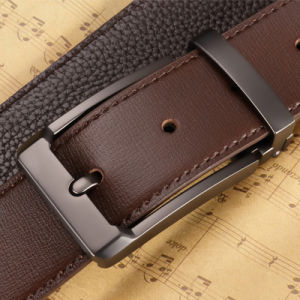 Fashion Top Grain Leather Belt Fashion Classice Vintage Pin Buckle pictures & photos