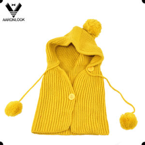 Kids Cute Winter Warm Keeping Knitted Hood Scarf pictures & photos