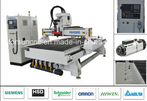 Siemens Control System Woodworking CNC Router Machine with 9kw Air Cooled Hsd Spindle