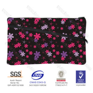 Wholesale SBR Neoprene Cute Cosmetic Bag Mini Flowers Purse Kit Pencil Bag for Girls pictures & photos