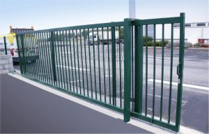 Powder Coated Wrought Iron Driveway Sliding Gate pictures & photos