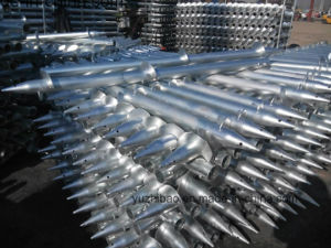 Solar Mounting Hot DIP Galvanized Ground Screw pictures & photos
