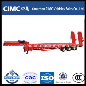 Cimc Heavy Duty 4 Axles Gooseneck Detachable Type Front Load Low Bed Truck Trailer for Sale pictures & photos