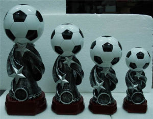 High Quality Bobble Football Figurine Model with Resin Material pictures & photos