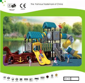 Kaiqi Medium Sized Pirate Ship Themed Children′s Playground with Tube Slide (KQ30114A) pictures & photos