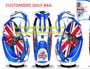 Custom Luxury Nylon and Leather Golf Caddie Bags pictures & photos