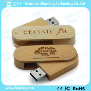 Ce RoHS Approved Swivel Wood USB Stick (ZYF1353) pictures & photos
