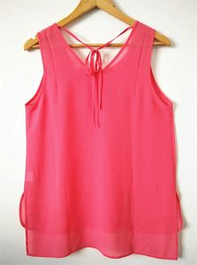 Fashion Clothes Sleeveless Round Neck Plain Polyester Women′s Tank Top pictures & photos