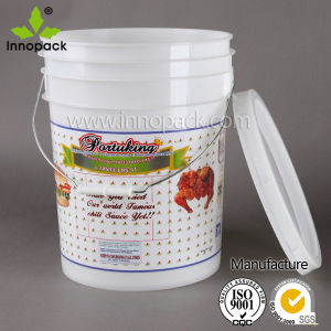 5 Gallon or 20L Food Grade Plastic Bucket with Printing pictures & photos