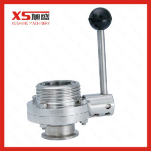 Stainless Steel Hygienic Manual Clamping-Threading Butterfly Valve with 4 Positions pictures & photos