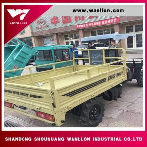 Four Wheel Dump Truck with Shed pictures & photos