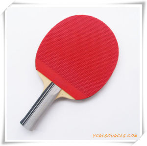 Promotion Table Tennis Racket OS08001, Available in Plastic Package, One Side Black and One Side Red pictures & photos