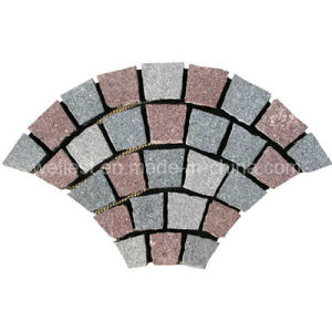 Meshed Granite Fan Shape Paving Stone for Exterior Garden Landscape and Patio pictures & photos