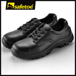 Steel Toe& Steel Midsole Safety Shoes (L-7201B) pictures & photos