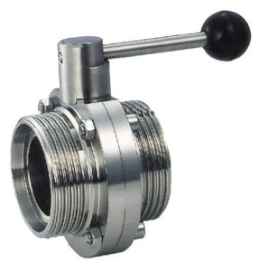 """3/4"""" Sanitary Butterfly Valve with Tri-Clamp End Pull Handle pictures & photos"""