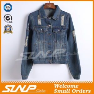 Long Sleeve Leisure Fashion Woman Denim Jean Jacket Clothes