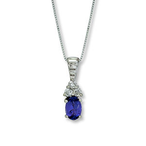 18k White Gold Diamond Jewelry Pendants Necklace with Blue CZ pictures & photos