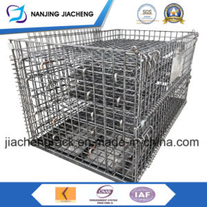 Industrial Stackable Foldable Storage Metal Wire Mesh Cage pictures & photos
