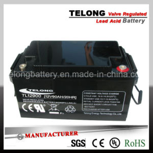 12V 90ah Solar Power Battery, UPS Battery with Good Guarantee pictures & photos