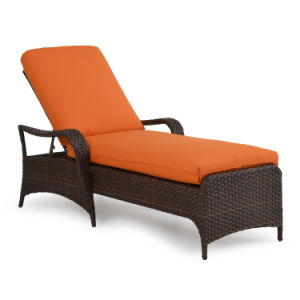 Welded Aluminium Frame Outdoor Rattan Chaise Lounge Sun Resist pictures & photos