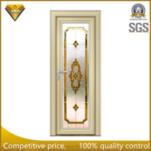 Aluminum Casement Door with Designed Glass for Bathroom pictures & photos