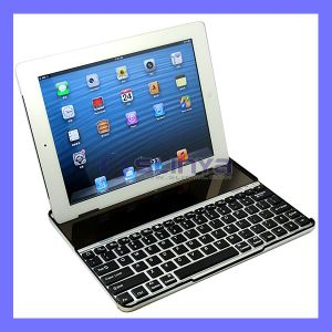 Ultra Thin Slim Stand Slot Aluminum Panel Wireless Bluetooth Keyboard for iPad 4 5 Air pictures & photos