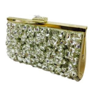 Gold Ladies Handbag Crystal Fashion Eveningbag pictures & photos