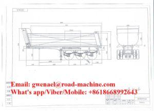 Hydraulic Type 25m3 U-Shape Heavy Duty Dumper Trailer/ Tipper Semi Trailer pictures & photos