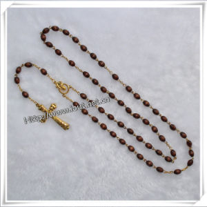 Handmade Wooden Beads Rosary for Praying (IO-cr021) pictures & photos