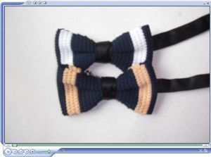 Fashion Men Silk Striped Knitted Necktie