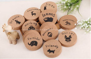 Promotional Environment Custom Logo Round Nature Cork Coaster pictures & photos