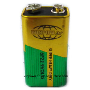 Rectangular Cell 9V Super Heavy Duty 6f22 Battery